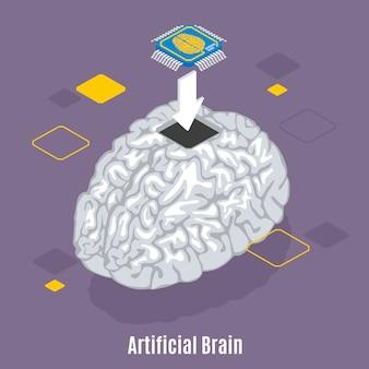 Human brain microchip sensor implantation procedure