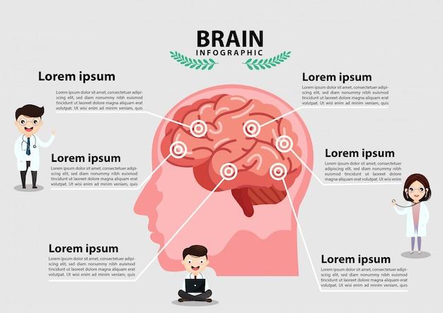 Human brain stroke .