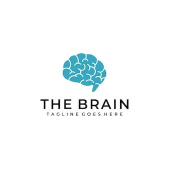 인간의 두뇌 기호 로고 디자인
