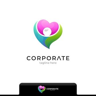 Шаблон дизайна логотипа ухода за человеком