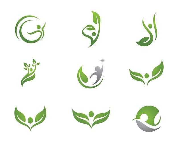 Знак логотипа человеческого характера знак логотипа здравоохранения.
