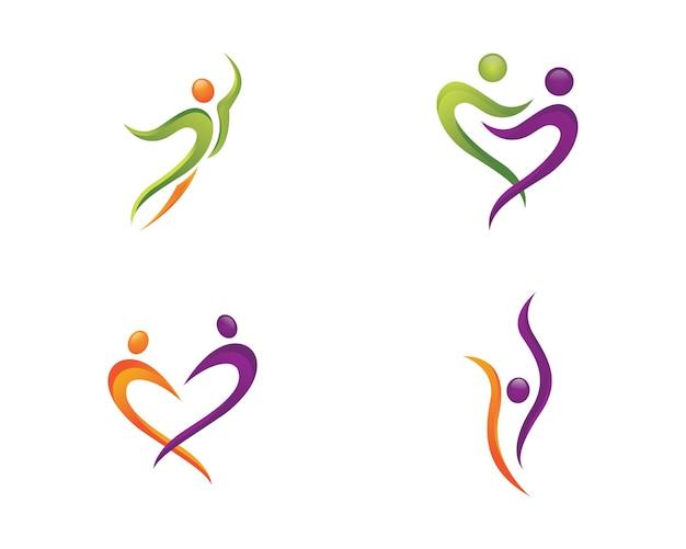 Знак с логотипом человеческого персонажа знак с логотипом здравоохранения