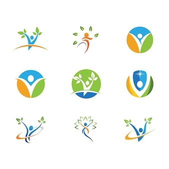 Человеческий характер логотип знак иллюстрации векторных дизайн