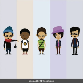 Human characters collection Free Vector