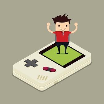 ゲームパッドによる人間の制御