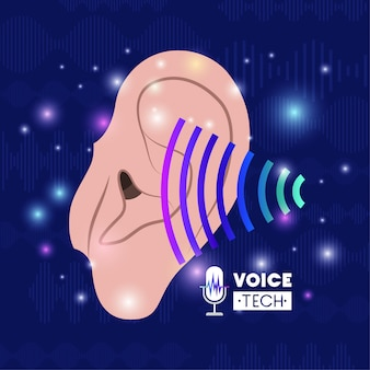 Human ear with voice recognition tech