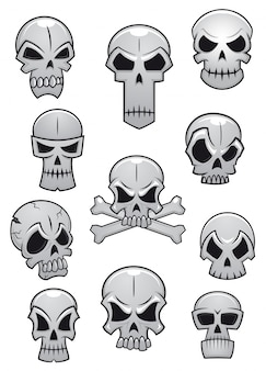 人間のハロウィーンの頭蓋骨セット