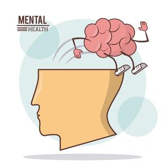 Human head brain