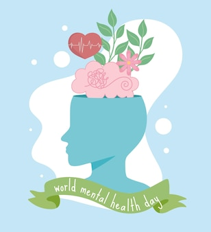 Human head with healthy mind