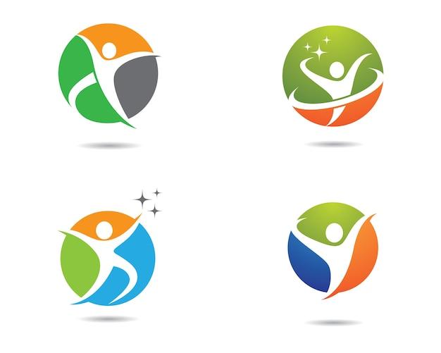 人間の健康のシンボルのイラストデザイン
