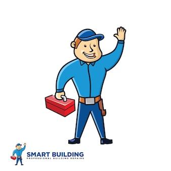 Human illustrations for building repairs