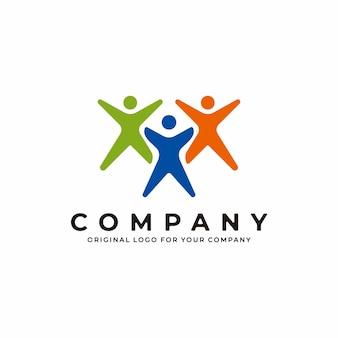 Human logo design health sport medical fitness logo design