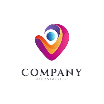Human love logo design