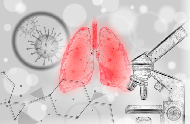 Human lungs medicine microscopic research concept