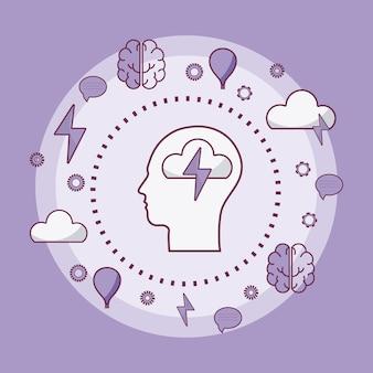 Human mind concept
