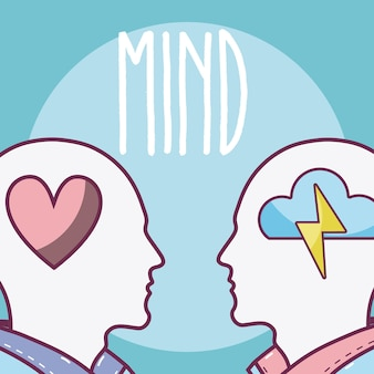 Human minds concept