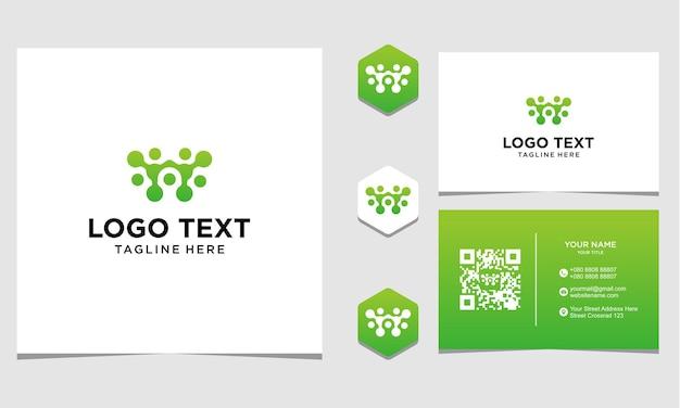 Дизайн логотипа питания человека, вдохновение для компании и визитной карточки premium векторы