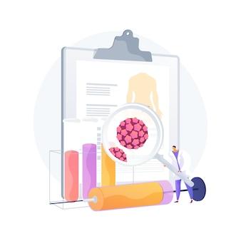 Иллюстрация вектора абстрактной концепции вируса папилломы человека впч. развитие инфекции впч, кожно-кожная вирусная инфекция, вирус папилломы человека, ранняя диагностика рака шейки матки абстрактная метафора.