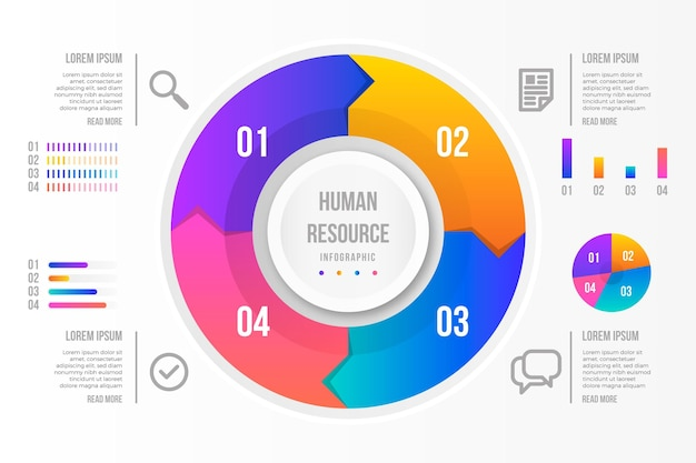 Human resource infographic concept