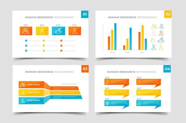 Modello di infografica delle risorse umane