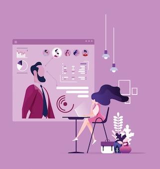 Human resource staff concept