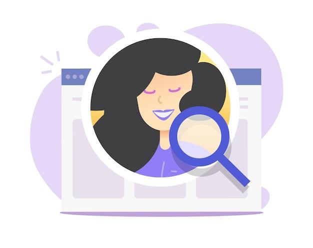 人事分析オンラインコンセプトまたはインターネットデジタル採用イラスト