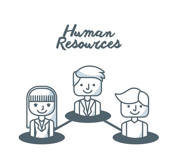인적 자원 개념 격리 된 아이콘