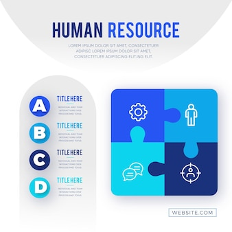 Human resources infographic template