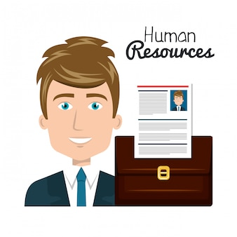 Human resources search isolated