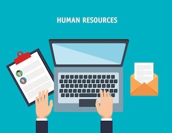 Human resources set icons