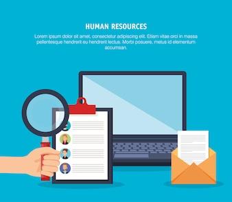 Human resources set icons