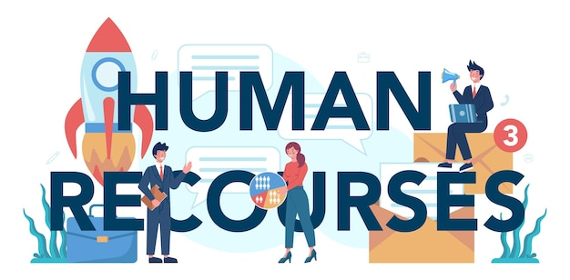 Human resources typographic header