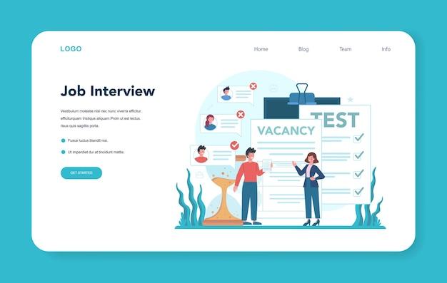 Human resources web banner or landing page