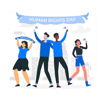 Human rights day concept illustration