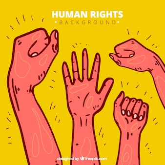 Human rights day, hand drawn background