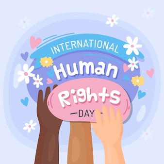 Human rights day illustration