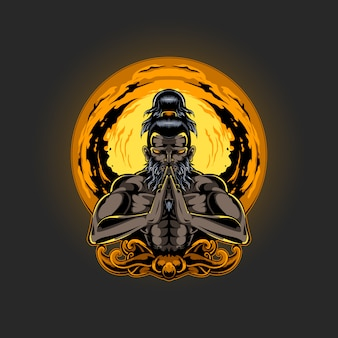 Иллюстрация медитации духовности человека