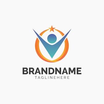 Дизайн логотипа human star
