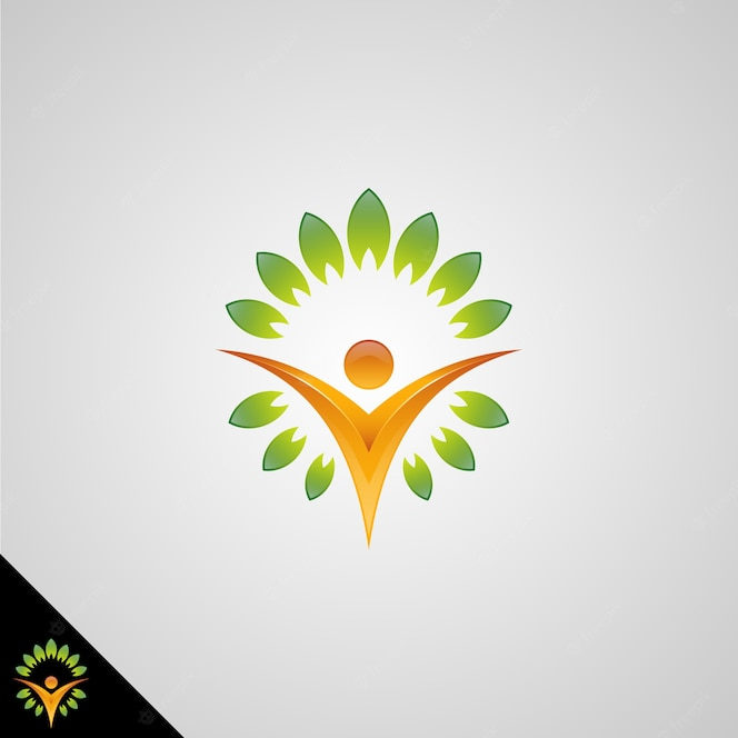 human symbol with back to nature healhty live concept