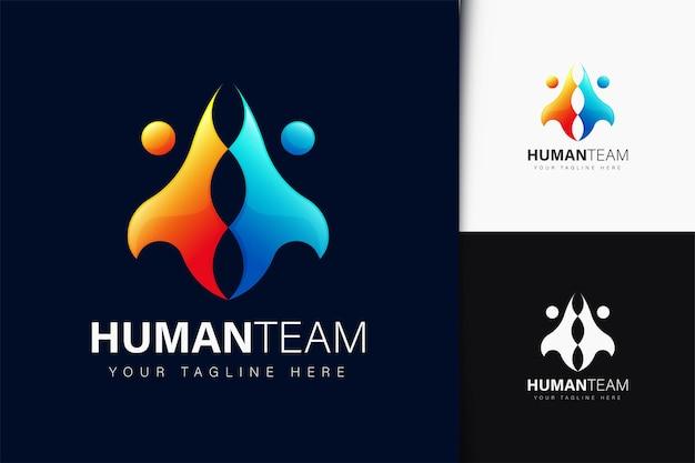 그라데이션이 있는 인간 팀 로고 디자인