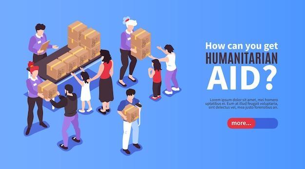 Modello di pagina di destinazione dell'aiuto umanitario