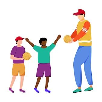 Humanitarian help for children flat vector illustration.