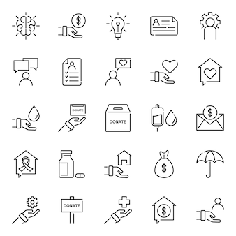 Humanity icon pack, with outline icon style