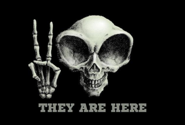 인간형 외계인 두개골