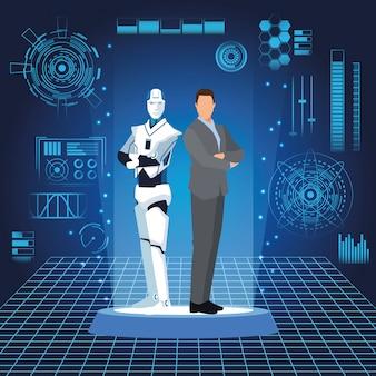 인간형 로봇 및 실업가