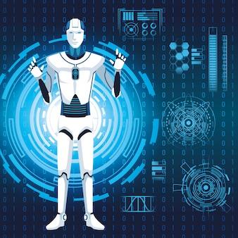 Человекоподобный робот аватар