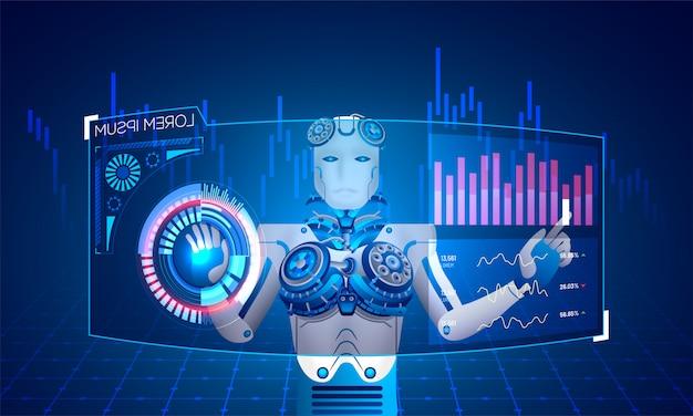 Humanoid robot.