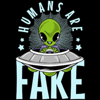 Humans are fake