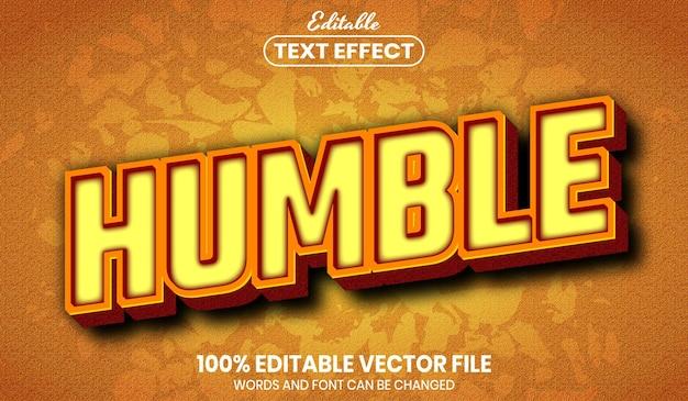 Humble text, editable text effect