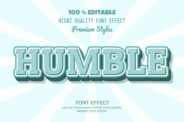Humble text,  font effect